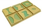 Land and Water Form Trays:Set 1 -Solo caf?-